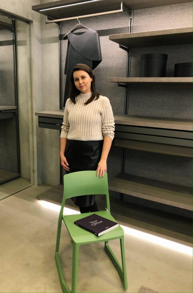 Юлия Алексеева выиграла стул от фабрики Vitra